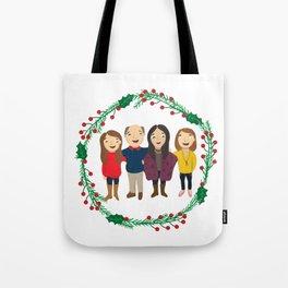 Custom Family Portait Tote Bag