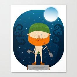 Night Lumberjack - Bearded & Naked Canvas Print