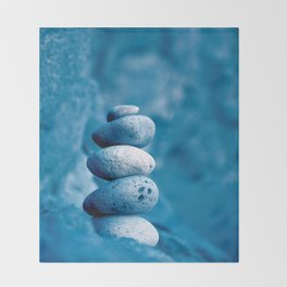 Stacked pebbles Throw Blanket