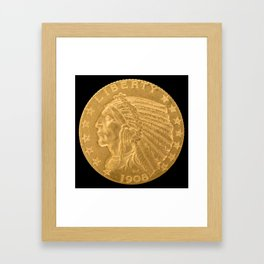 US Indian Head Dollar Framed Art Print