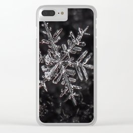 Snowfake on some fleece Clear iPhone Case