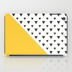 Yellow and triangles  iPad Case