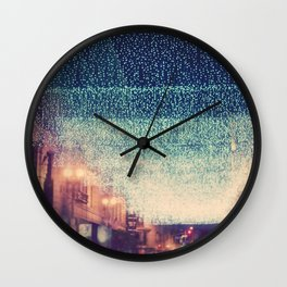 downtown Los Angeles at night photograph. Starry Night Wall Clock
