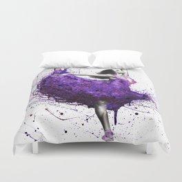 Purple Rains Ballet Duvet Cover