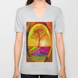 Tree of Life Sunrise Unisex V-Neck