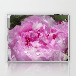 Pink Peony with Rain Drops Laptop & iPad Skin