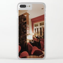 Red Cafe Clear iPhone Case