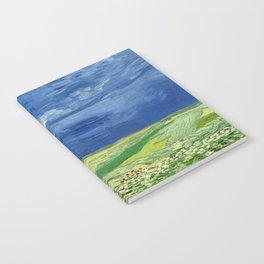 Wheatfield under thunderclouds by Vincent van Gogh Notebook