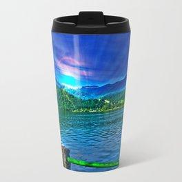 Sun over Lake Schliersee bavaria Germany Travel Mug