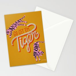 Go Get 'Em Tiger – Yellow Palette Stationery Cards