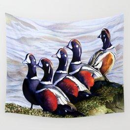 Harlequinn Ducks of LBI Wall Tapestry