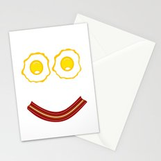 Bacon And Eggs Happy Face Stationery Cards
