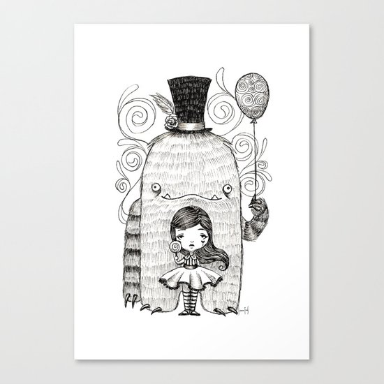 My Monster Friend Canvas Print