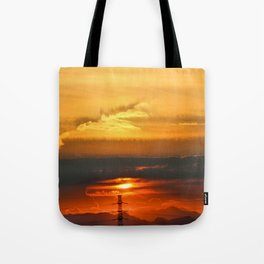Sunset Horizon Tote Bag