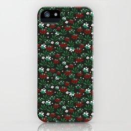 Ditsy Mistletoe pattern iPhone Case