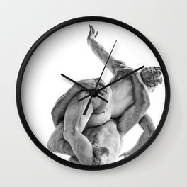 The robbery of the Sabineers of Giambologna Wall Clock