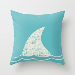 Beach Series Aqua - Shark Animal in the deep See Throw Pillow