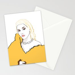 CHRISTINA AGUILERA LIBERATION Yellow Fur Jacket Stationery Cards