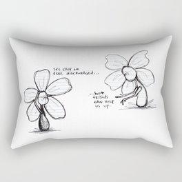 """""""Easily Discouraged"""" Flowerkid Rectangular Pillow"""