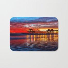 Huntington Beach Sunset   12/2/13 Bath Mat