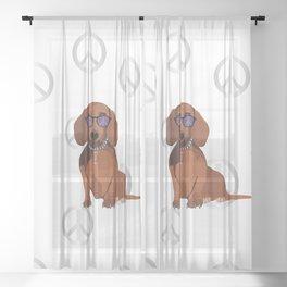 dachshund Sheer Curtain