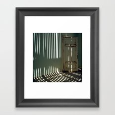 Striped Wall Framed Art Print