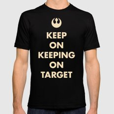 Keep On Keeping On Target (Red) Black SMALL Mens Fitted Tee