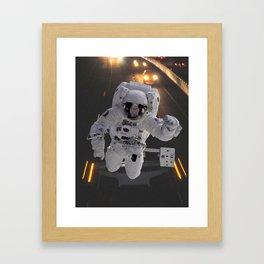 Highway Astronaut, Explore the World Framed Art Print