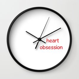 H2O Two Parts Heart One Part Obsession Wall Clock
