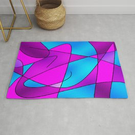 ABSTRACT CURVES #2 (Purples, Violets, Fuchsias & Turquoises) Rug