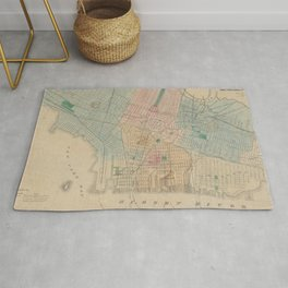 Vintage Map of Jersey City NJ (1879) Rug