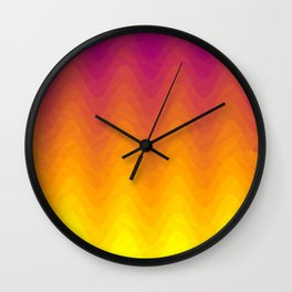 Pink and Yellow Ombre - Waves - Flipped Wall Clock