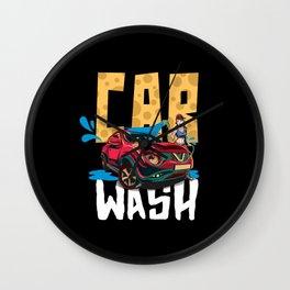 Car Wash Please Wall Clock