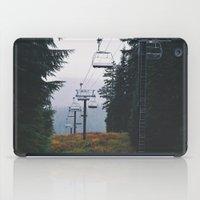 ski iPad Cases featuring Ski Lift by Hannah Kemp