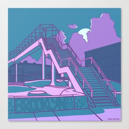 Brooklyn Street Skate Park Canvas Print