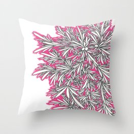Black Growth with Pink Throw Pillow