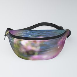 Purple Flower Peekaboo at the Lake Fanny Pack