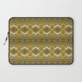 Golden Ornate Pattern Laptop Sleeve