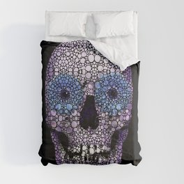 Skull Art - Day Of The Dead 2 Stone Rock'd Comforters