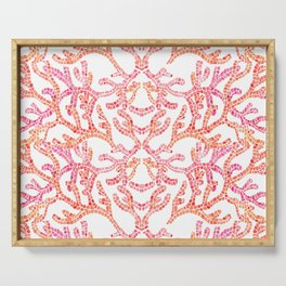 Coral Reef Pattern Serving Tray