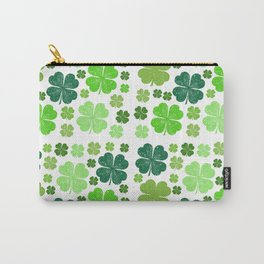 Saint Patrick's Day, Clovers - Green White Carry-All Pouch