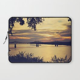 Golden Mississippi River Sunset Laptop Sleeve