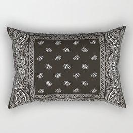 Paisley - Bandana - Black -  Southwestern Rectangular Pillow