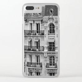 Paris Architecture Photography Clear iPhone Case