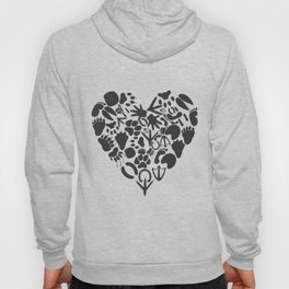 Heart of an animal Hoody