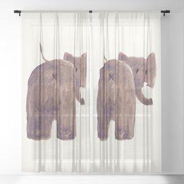 Elephant's butt Sheer Curtain