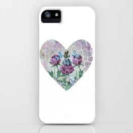 Alice In Wonderland - Wonderland Garden - Heart Shape iPhone Case