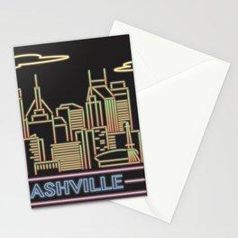 Nashville Neon City Stationery Cards