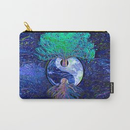 Tree of Life Yin Yang Earth Space Carry-All Pouch