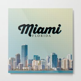 Miami Tropic Metal Print